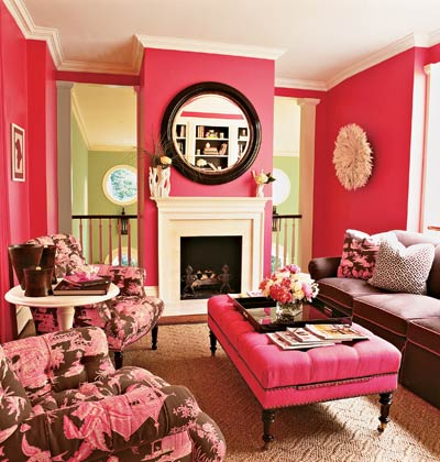Living Room on Pink Living Room