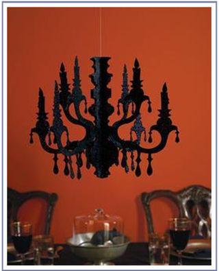Black paper chandelier thejots black paper chandelier decoration hostingrq lighting ideas mozeypictures Image collections